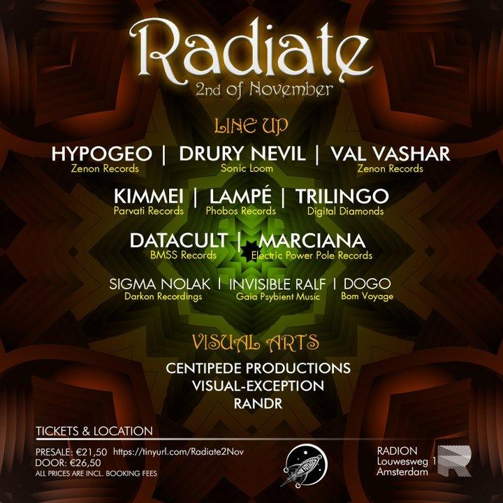 Radiate 2 Nov '19, 23:00