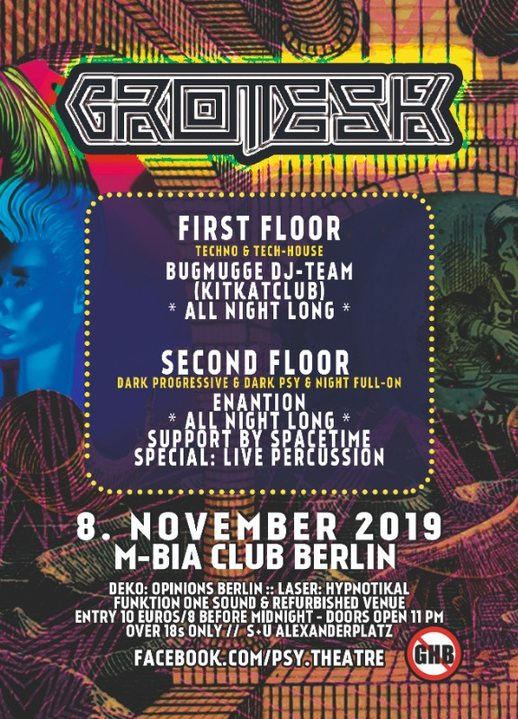 Grotesk by Psychedelic Theatre 8 Nov '19, 23:00