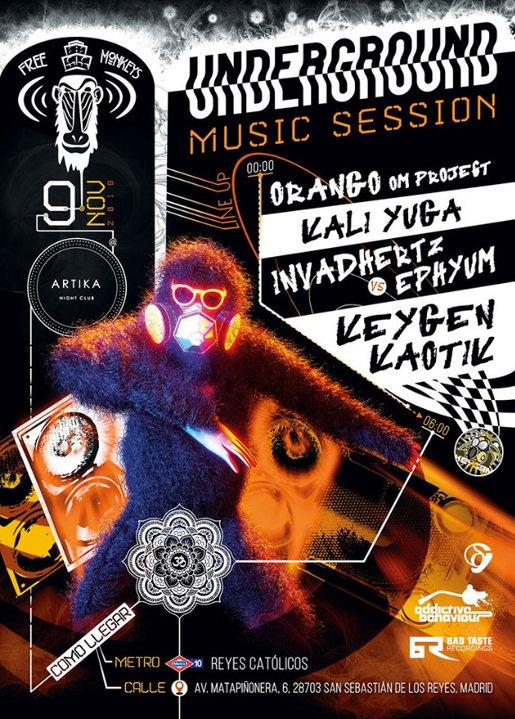UndergroundMusicSession // Psy-DnB-HardTek 9 Nov '19, 23:30