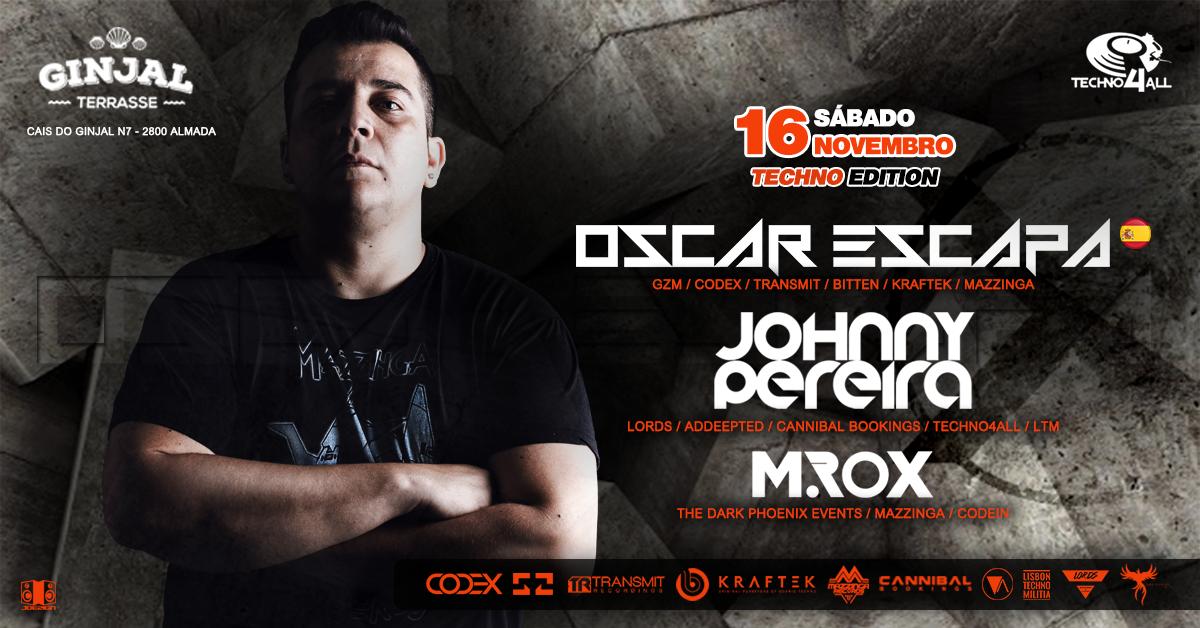 Techno4All - Oscar Escapa (SPAIN) - Ginjal Terrasse 16 Nov '19, 23:00