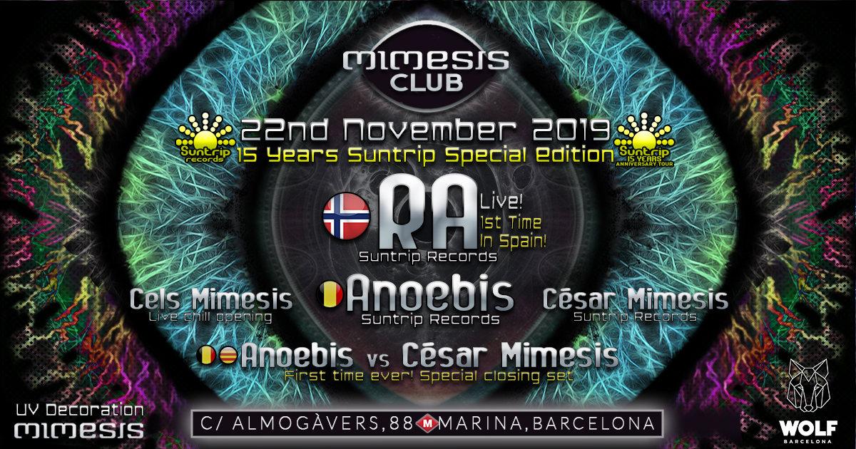 Mimesis CLUB - November w/ RA & Anoebis! 22 Nov '19, 23:30