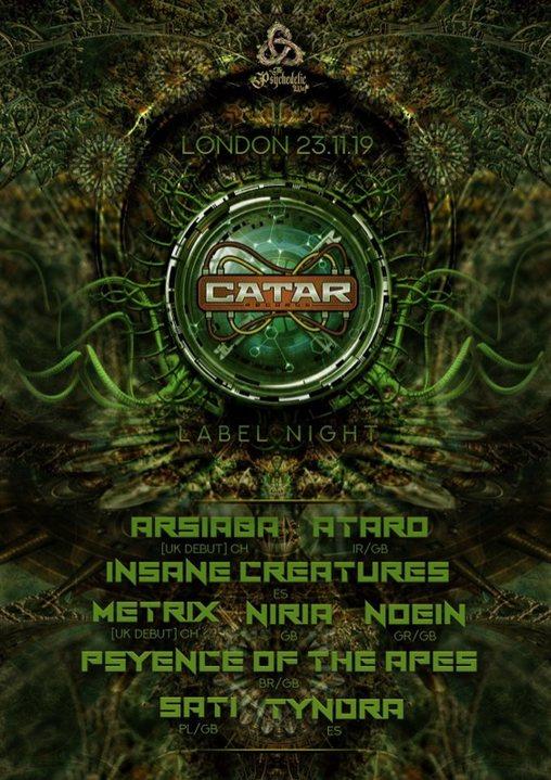 The Psychedelic Way & Catar Records label night 23 Nov '19, 23:00
