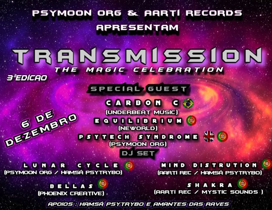 •TranSmission • The Magic Celebration 3aEdição 6 Dec '19, 23:00