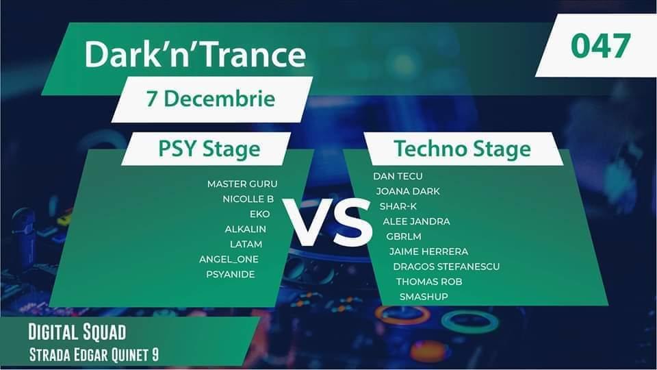 Dark'N'Trance 047 Psy vs Techno (2 Scene) 7 Dec '19, 21:00