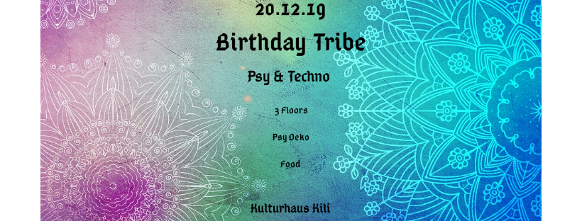 Birthday Tribe w/ Onero on 3 Floors 20 Dec '19, 23:00