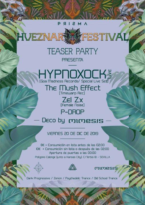 Prisma Invita : Hueznar Festival Teaser Party SEVILLA 20 Dec '19, 23:30