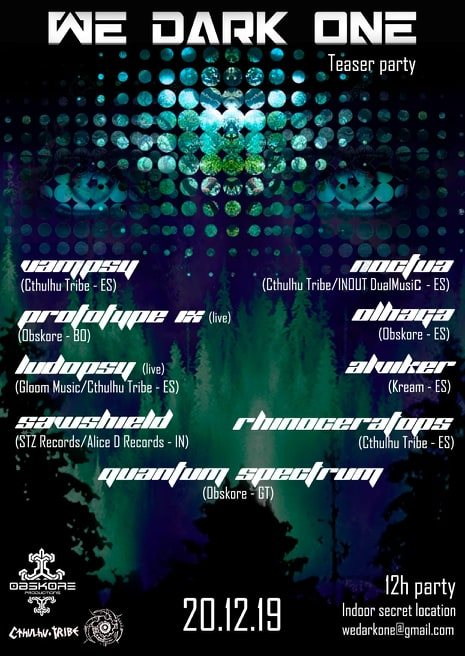 WE DARK ONE - Teaser Party 20 Dec '19, 23:30