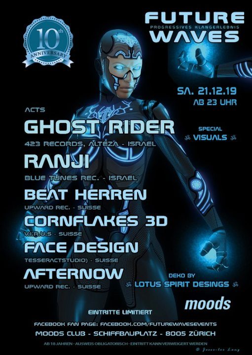 10 Jahre Future Waves - Ghost Rider, Ranji and more 21 Dec '19, 23:00
