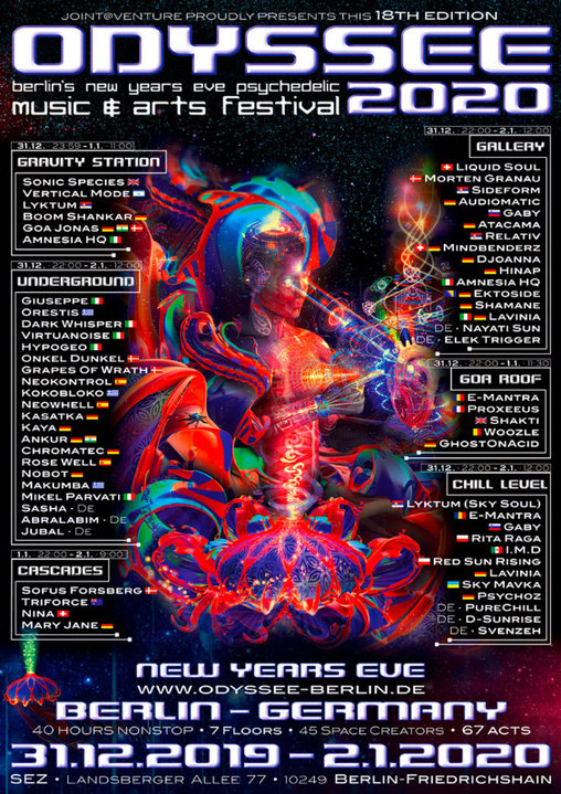 ODYSSEE 2020 - berlins new years eve psychedelic music & arts festival - 31 Dec '19, 22:00