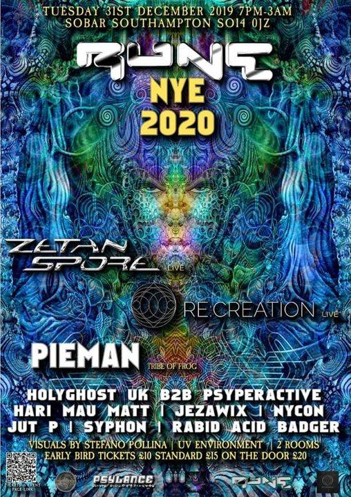 RUNE NYE 2020 31 Dec '19, 19:00