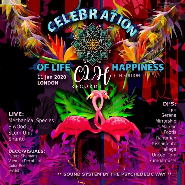 Celebration of life n happiness 6th edition, London 11 Jan '20, 23:00