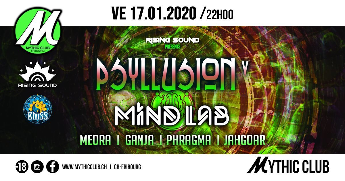 Psyllusion V w/ Mind Lab [BMSS Records] 17 Jan '20, 22:00