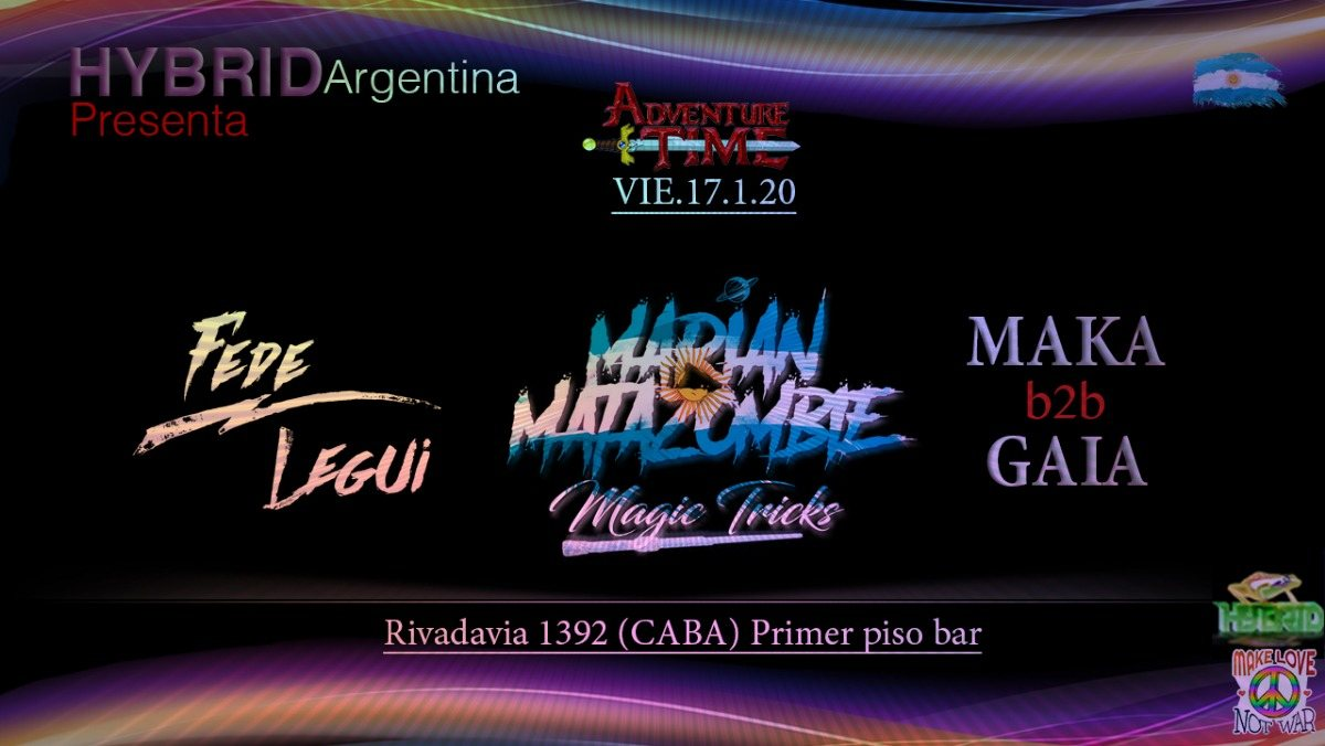 Psytrance night at PPB // Hybrid Argentina // Rivadavia st . 1392 17 Jan '20, 23:00