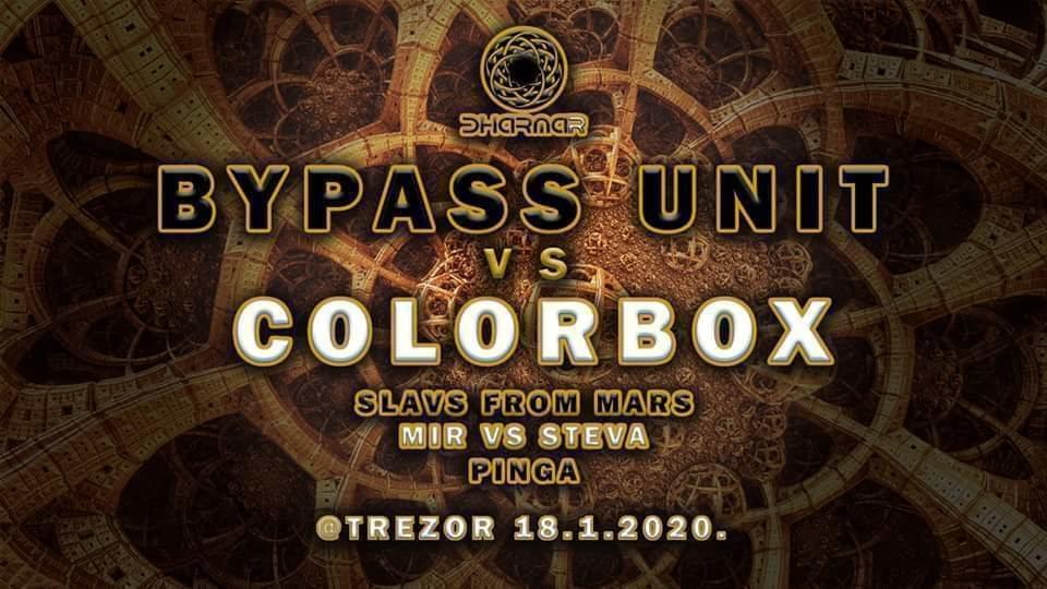 BYPASS UNIT VS COLORBOX Special live @Trezor 18 Jan '20, 23:00