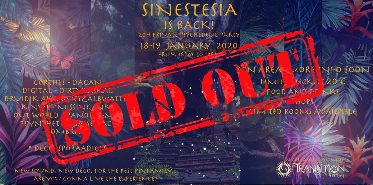 SINESTESIA 20h Psychedelic Party 18 Jan '20, 16:00
