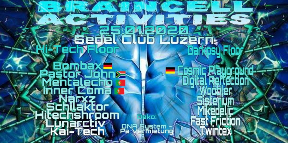 Braincell Activities 25 Jan '20, 21:00