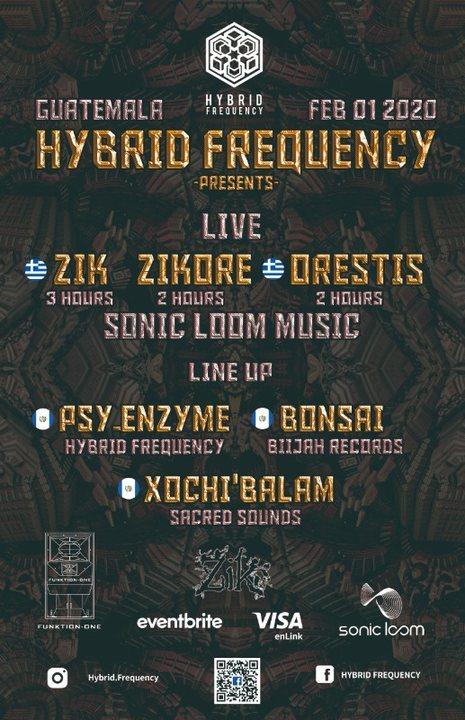 Hybrid Frequency Presents: Zik, ZikOre, Orestis Live! 1 Feb '20, 21:00