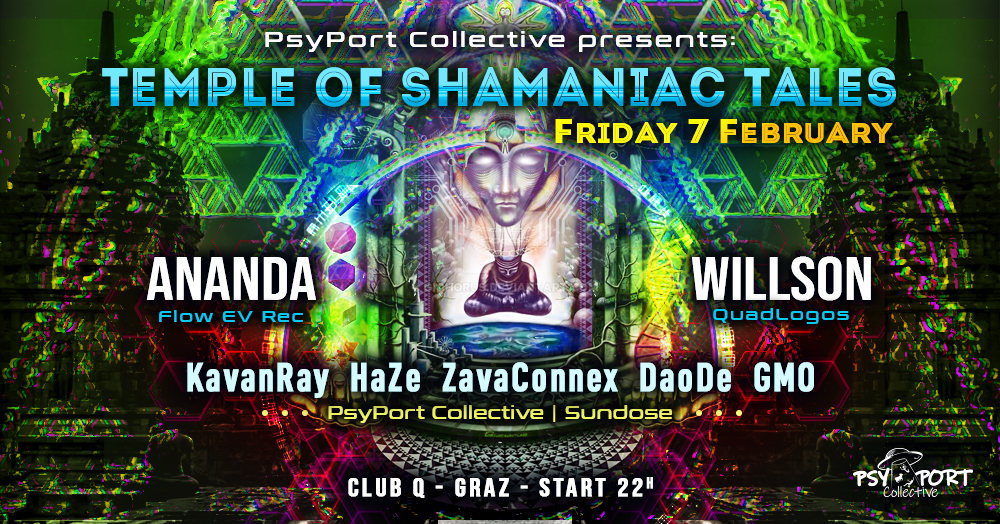 PsyPort Collective presents - Temple of Shamaniac Tales 7 Feb '20, 22:00