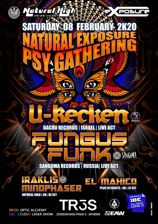 Natural Exposure presents U-Recken & Fungus Funk in Athens on Sat 08 February 8 Feb '20, 23:30