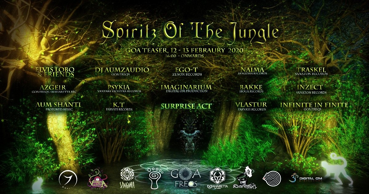 Spiritz of the Jungle- TeAseR Goa 2020 12 Feb '20, 18:00