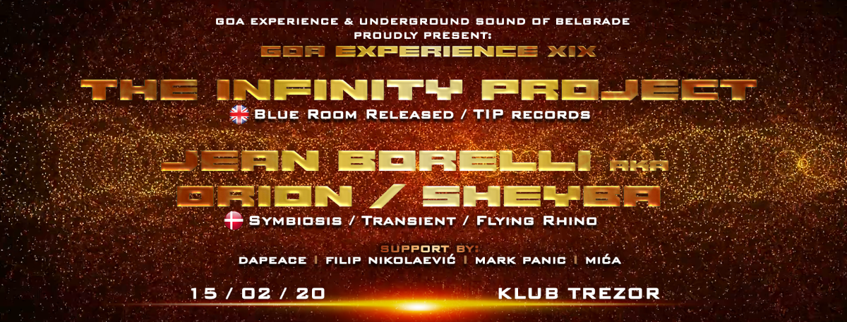 GOA EXPERIENCE XIX 15 Feb '20, 23:00