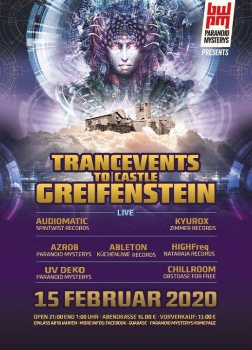 TRANCEVENTS TO CASTLE GREIFENSTEIN (PART TWO) 15 Feb '20, 21:00