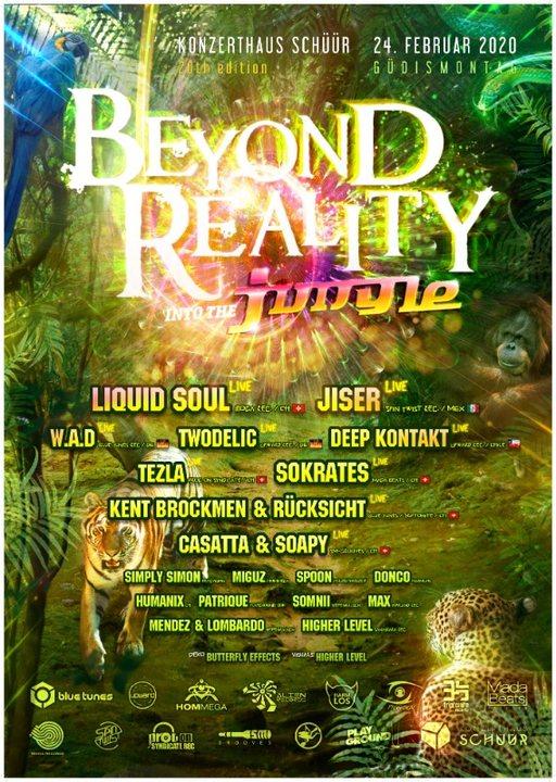 Beyond Reality 20 - Into the Jungle /w Liquid Soul, Jiser, W.A.D, Tezla u.v.m 24 Feb '20, 21:00