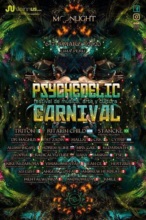 Psychedelic Carnival 2020 Festival de música, arte y cultura 6 Mar '20, 12:00