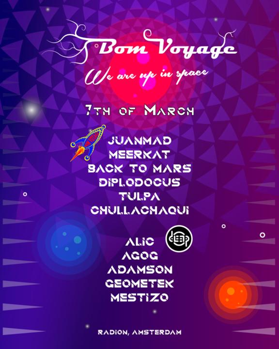 "Bom Voyage: Radiate ""We are in Space"" 7 Mar '20, 23:00"