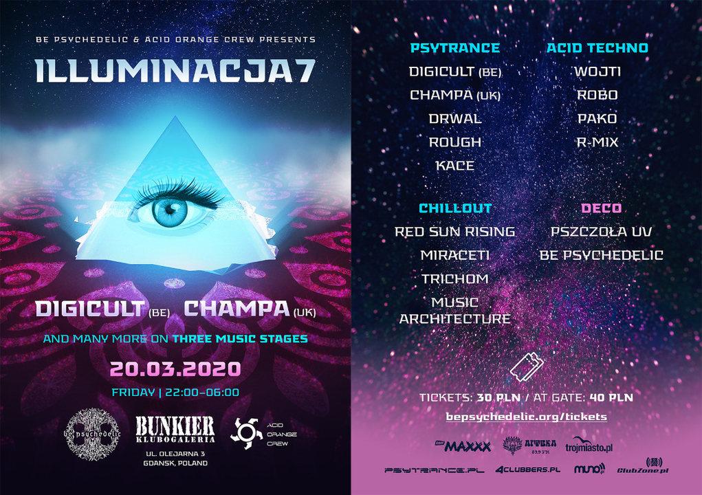 Illuminacja 7 - Be Psychedelic & Acid Orange Crew 20 Mar '20, 22:00