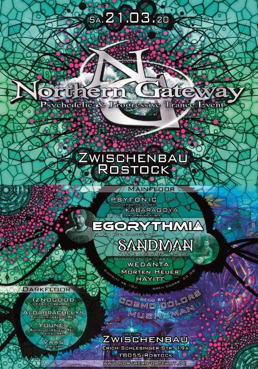 Northern Gateway mit Egorythmia, Sandman und xtra Darkfloor 21 Mar '20, 23:00