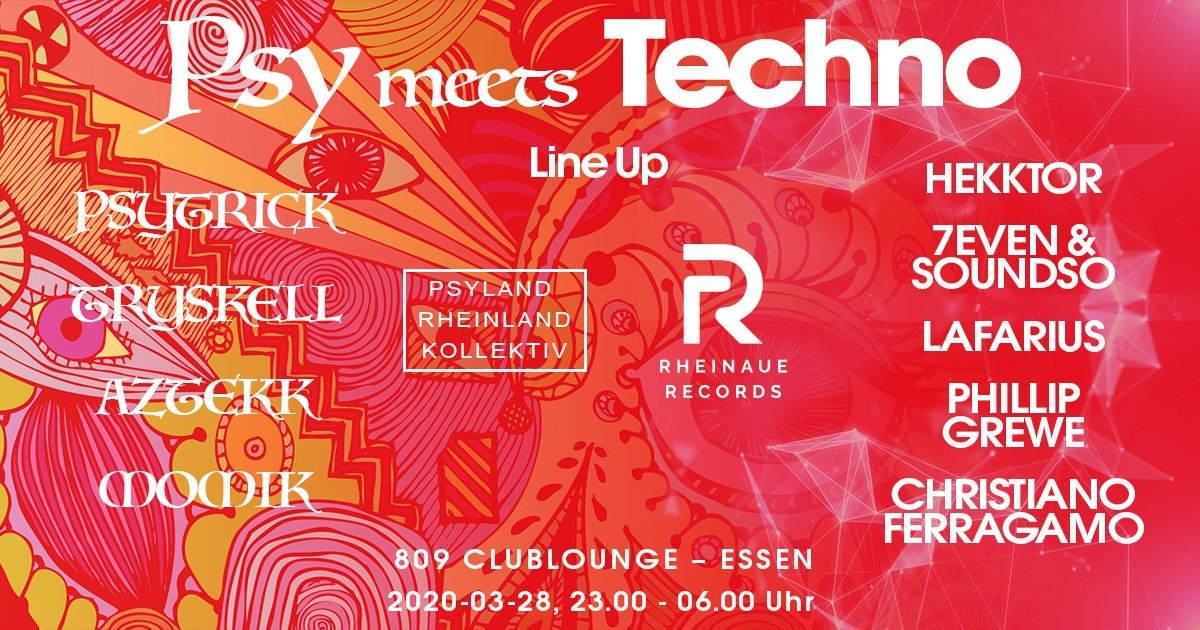 PSY meets TECHNO 28 Mar '20, 23:00