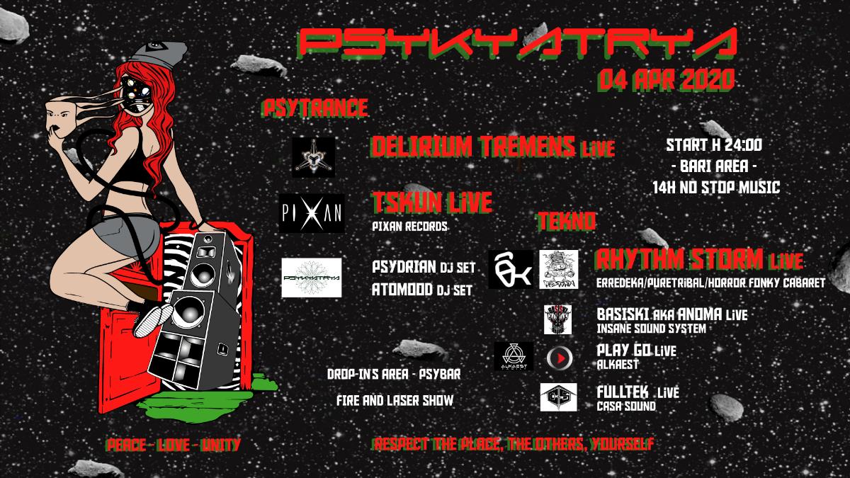 ◤◢ Rhythm Storm • Delirium Tremens • Tskun _Live Tekno & Psy ◣◥ 5 Apr '20, 00:00