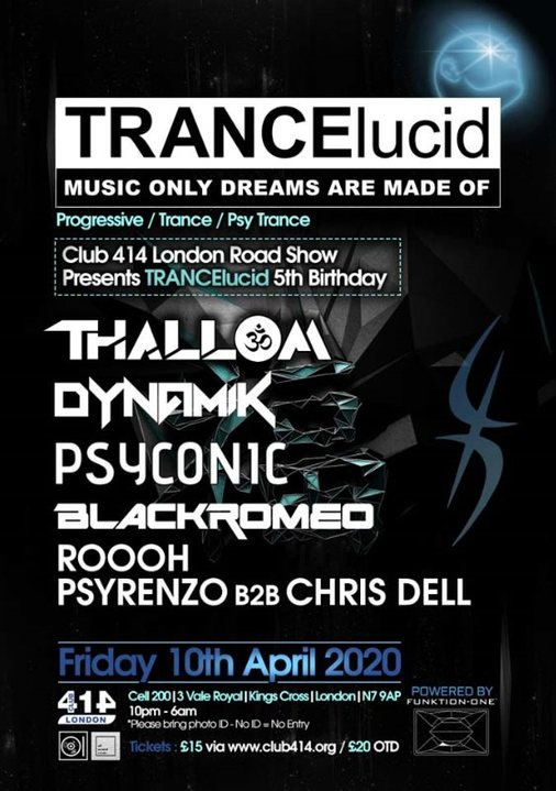 TRANCElucid (5th Birthday) 10 Apr '20, 22:00