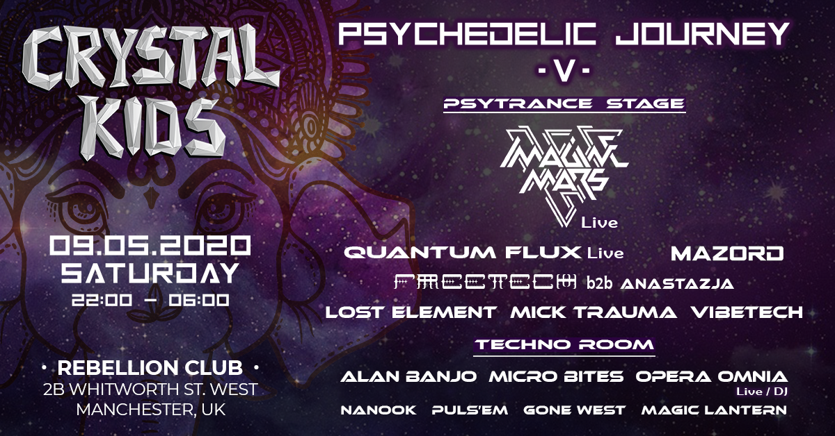 Crystal Kids: Psychedelic Journey V 9 May '20, 22:00