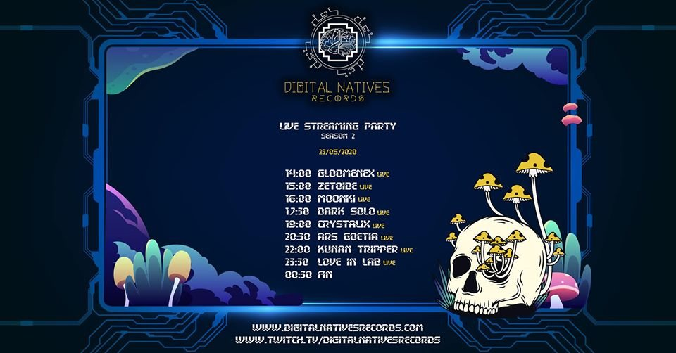 Digital Natives Records // Streaming Party // Season 2 23 May '20, 19:00