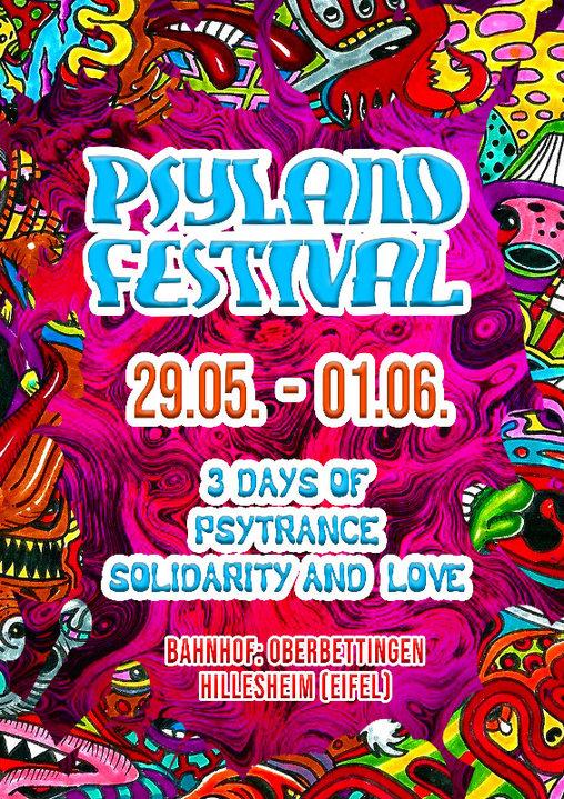 Psyland Festival 3 Days of Psytrance,Solidarity and Love 29 May '20, 14:00