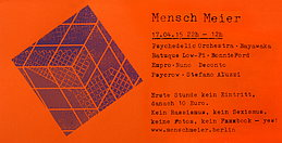 Party flyer: Mensch Meier goes psychedelic 17 Apr 15, 22:00h
