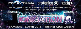 Party flyer: IONISATION 18 Apr 15, 22:00h