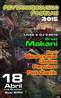 Party flyer: psytrancequsqo festival 2015 ( lima-party ) 18 Apr 15, 20:00h