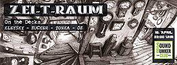 Party flyer: Zei-t-raum 18 Apr 15, 22:00h