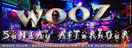 Party flyer: SUNDAY AFTERHOUR @ WOOZ Club in Glattbrugg ZH 19 Apr 15, 12:30h