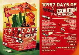Party flyer: M!GuZ B-Day 10957 Days Escalation! w/ TALPA, THE RIDDLER 25 Apr 15, 21:00h