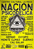 Party flyer: NACIÓN PSICODÉLICA 30 Apr 15, 19:00h