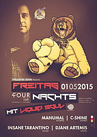 Party flyer: Freitag Nachts mit Liquid Soul 1 May 15, 22:00h