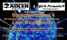 Party flyer: SynapsenTapsen 4: Klopfgeister - inkl. Biergarteneröffnung 1 May 15, 15:00h