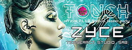 Party flyer: ◆TOUCH  ◇  P.L.U.R FESTIVAL TEASER PARTY ◇  ZYCE LIVE (TESSERACTSTUDIO) SRB◆ 1. Mai 15, 08:00h