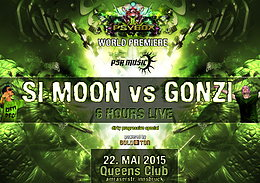 Party flyer: PSYBOX  *** WORLD PREMIERE *** - SI MOON vs GONZI - 6 HOURS LIVE 22 May 15, 22:00h