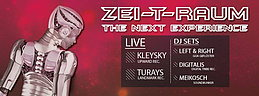 Party flyer: ZEI-T-RAUM 23 May 15, 22:00h