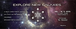 Party flyer: Explore New Galaxies 29 May 15, 21:00h